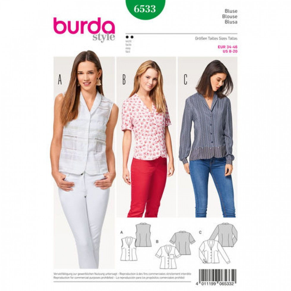 Sewing Pattern For Ladies Blouse 88