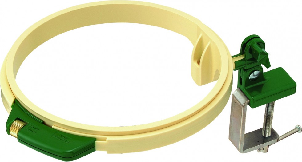 Clover turnable plastic embroidery hoop ring needlework for Large plastic rings for crafts