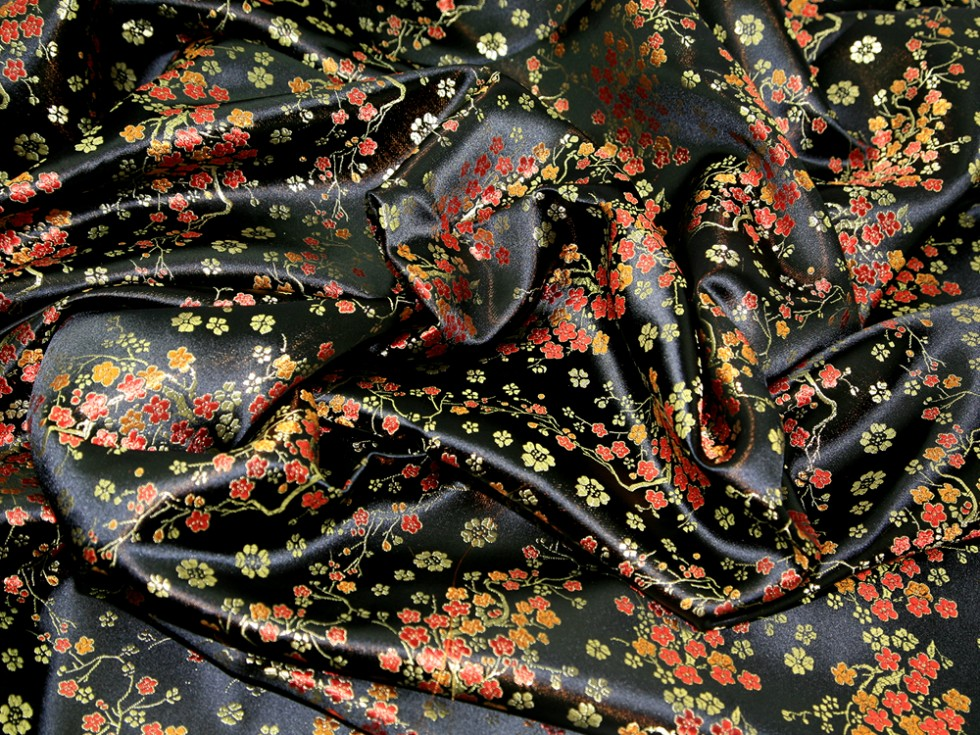 Chinese Satin Blossom Brocade