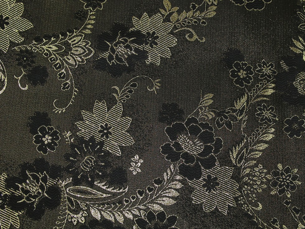 Metallic Brocade Fabric Black & Gold | Fabric | Dress ...
