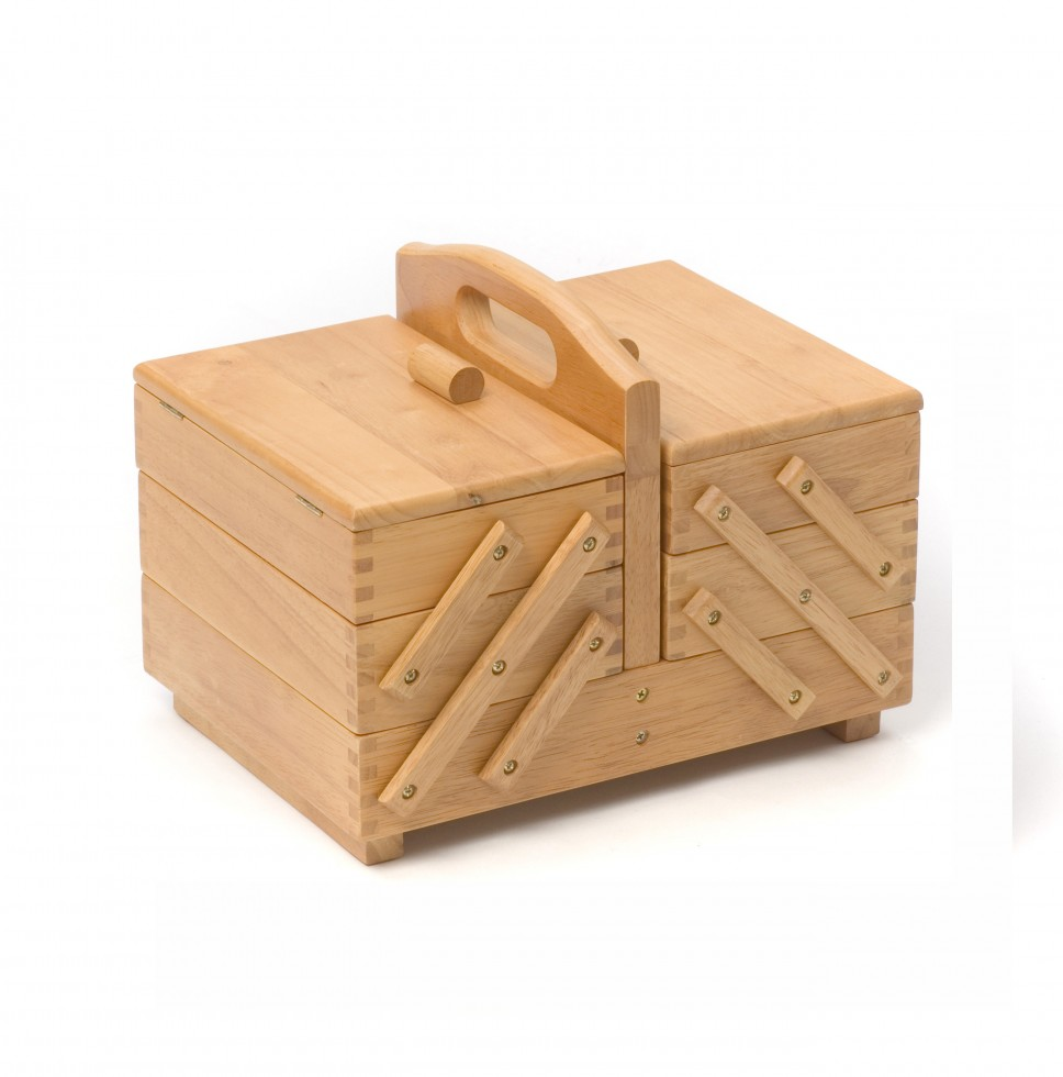 Hobby & Gift Wooden Cantilever Medium 3 Tier Sewing Box ...