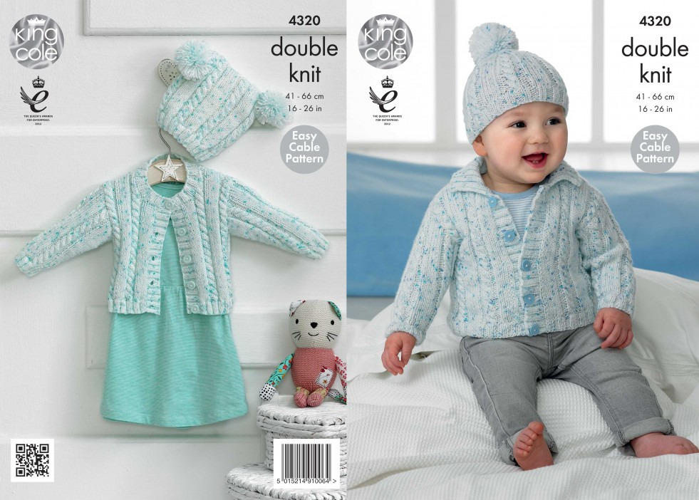 King Cole Baby Cardigans & Hats Smarty Baby Knitting ...
