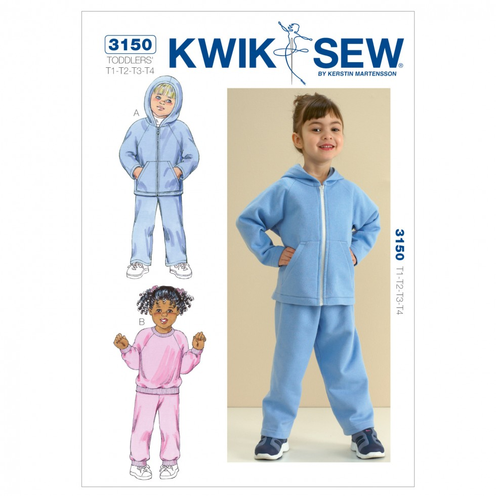 Kwik sew toddlers sewing pattern 3150 tracksuits hoodies kwik sew toddlers sewing pattern 3150 tracksuits hoodies jeuxipadfo Choice Image