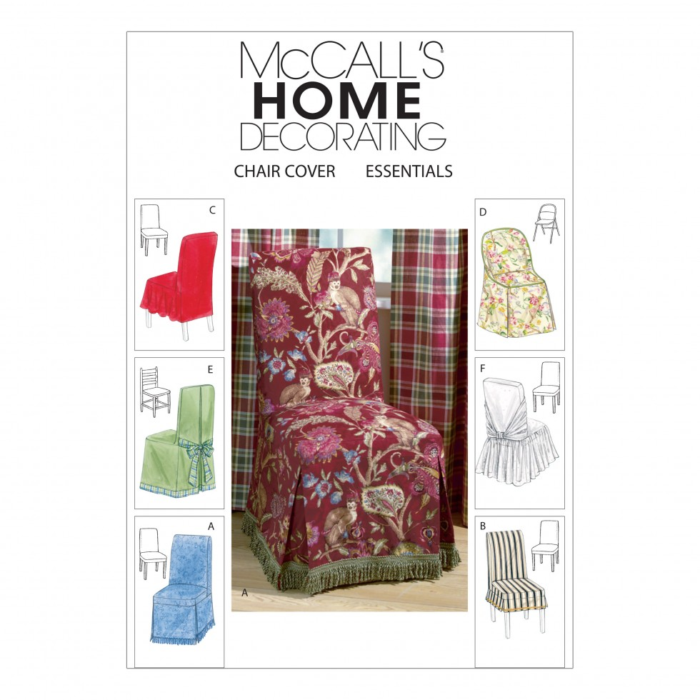 McCalls Homeware Sewing Pattern 4404 Chair Covers