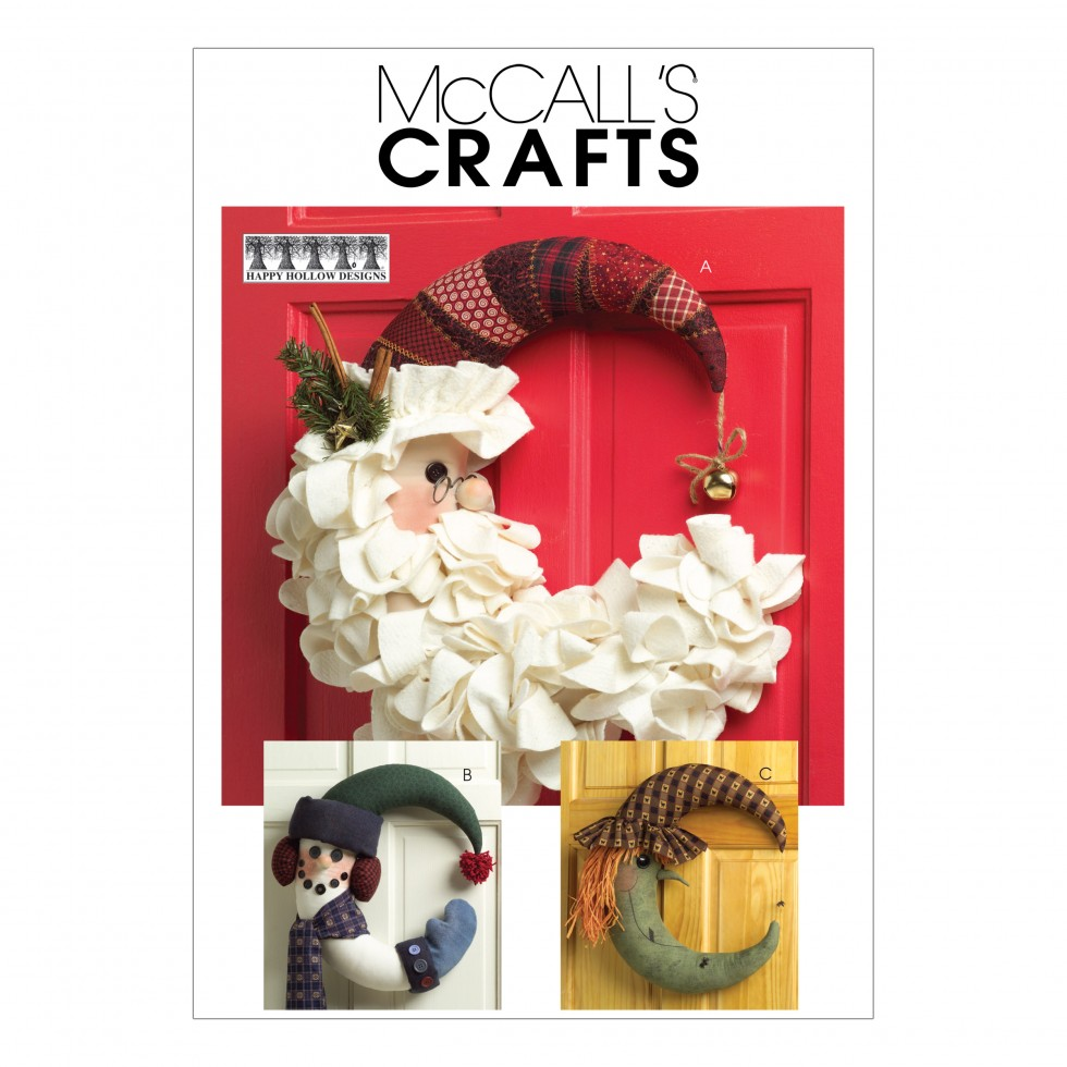 McCalls Homeware Easy Sewing Pattern 5205 Christmas