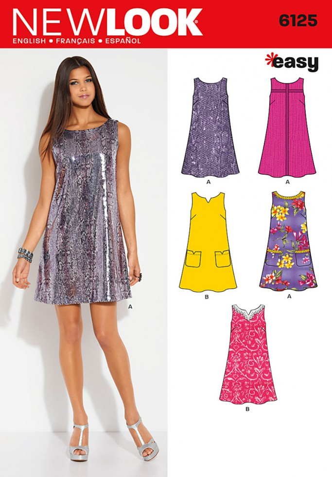 New Look Ladies Easy Sewing Pattern 6125 A Line Shift Dresses ...