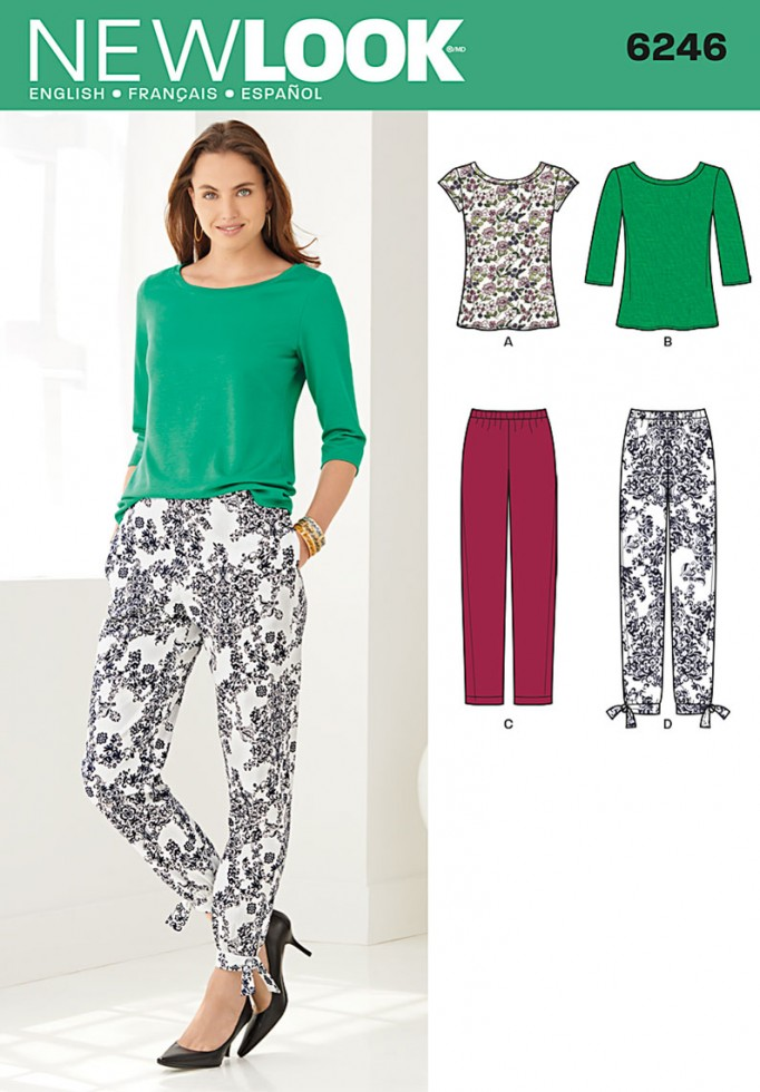 New Look Ladies Easy Sewing Pattern 6246 Knitted Tops & Cropped ...