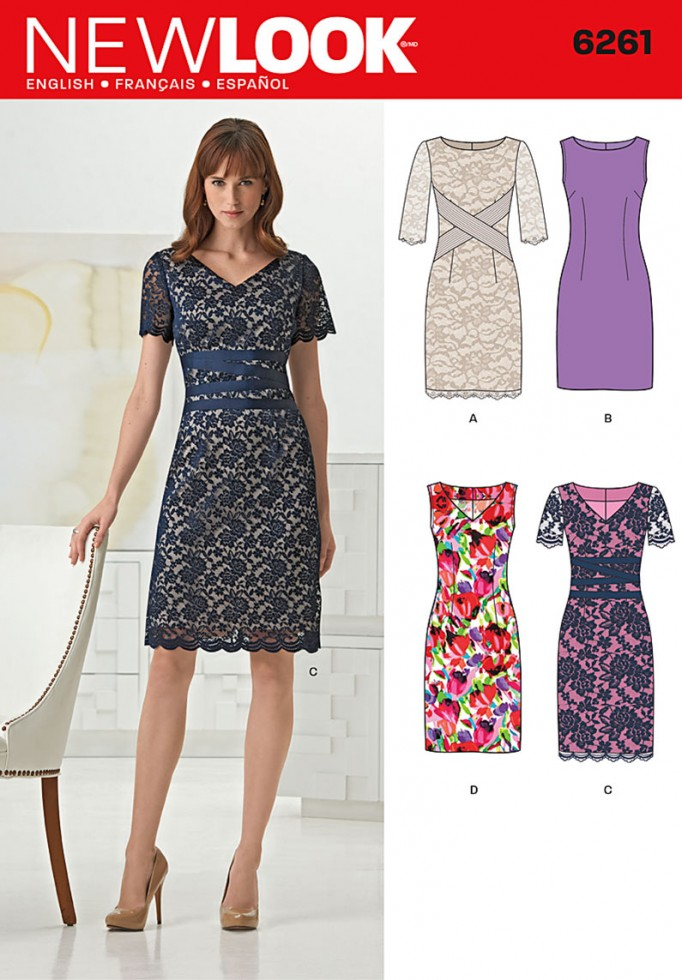 New Look Ladies Sewing Pattern 6261 Classic Sheath Dresses | Sewing ...
