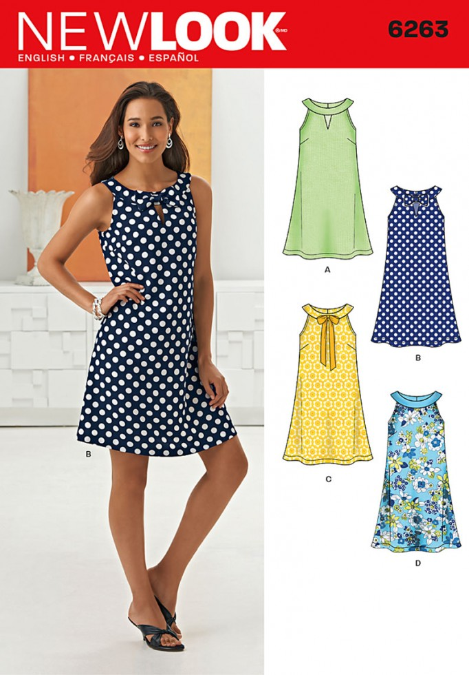 New Look Ladies Easy Sewing Pattern 6263 A Line Summer Dress ...