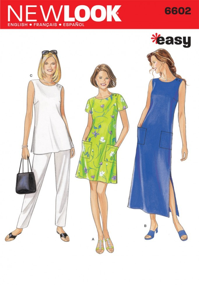 New Look Ladies Easy Sewing Pattern 6602 Tunic Tops, Dresses & Pants ...