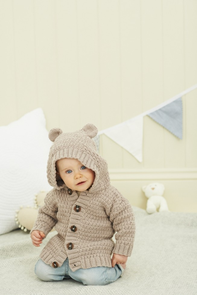 Baby Knitting Pattern Hoodie With Ears : Stylecraft Baby & Childrens Hoodie Jacket Lullaby Knitting ...
