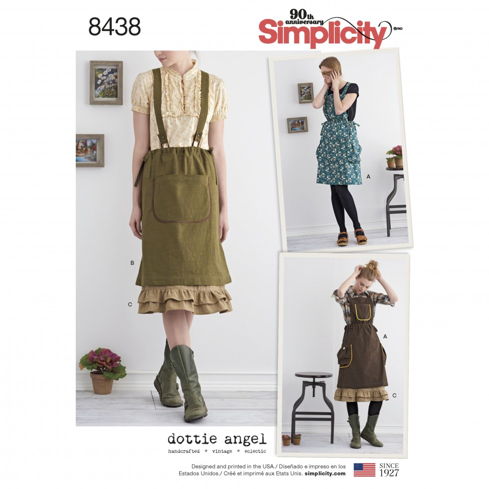 Sewing pattern ladies pinafore dress choice image craft simplicity ladies sewing pattern 8438 pinafore dress petticoat every effort is made to ensure the items jeuxipadfo Image collections