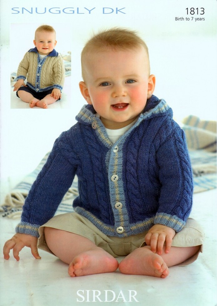 Sirdar Free Knitting Patterns For Babies : Sirdar Baby Jackets Knitting Pattern 1813 DK Knitting Patterns Minerva ...