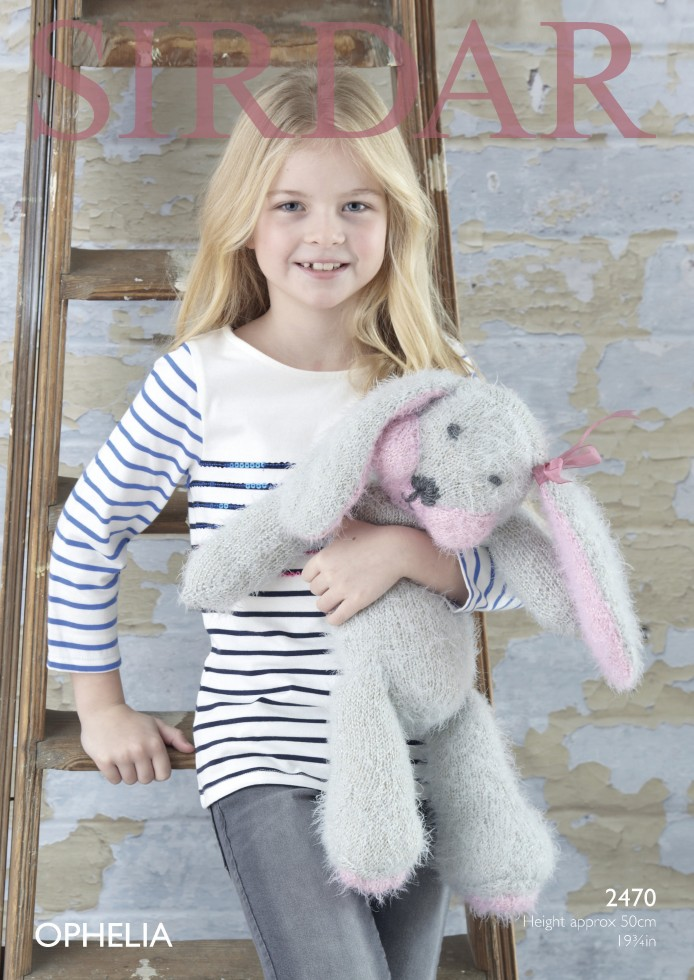 Sirdar Toy Knitting Patterns : Sirdar Rabbit Cuddly Toy Ophelia Knitting Pattern 2470 Chunky Knitting Pa...