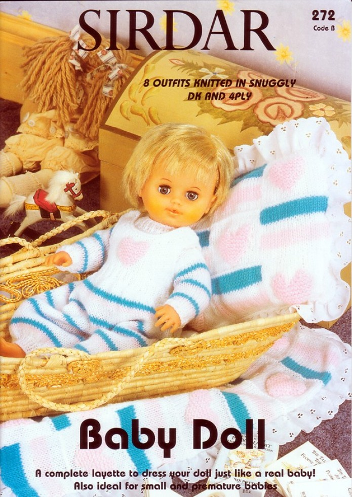 Sirdar Knitting Pattern Books Baby : Sirdar Knitting Pattern Book Baby Doll Book 272 4 Ply, DK ...