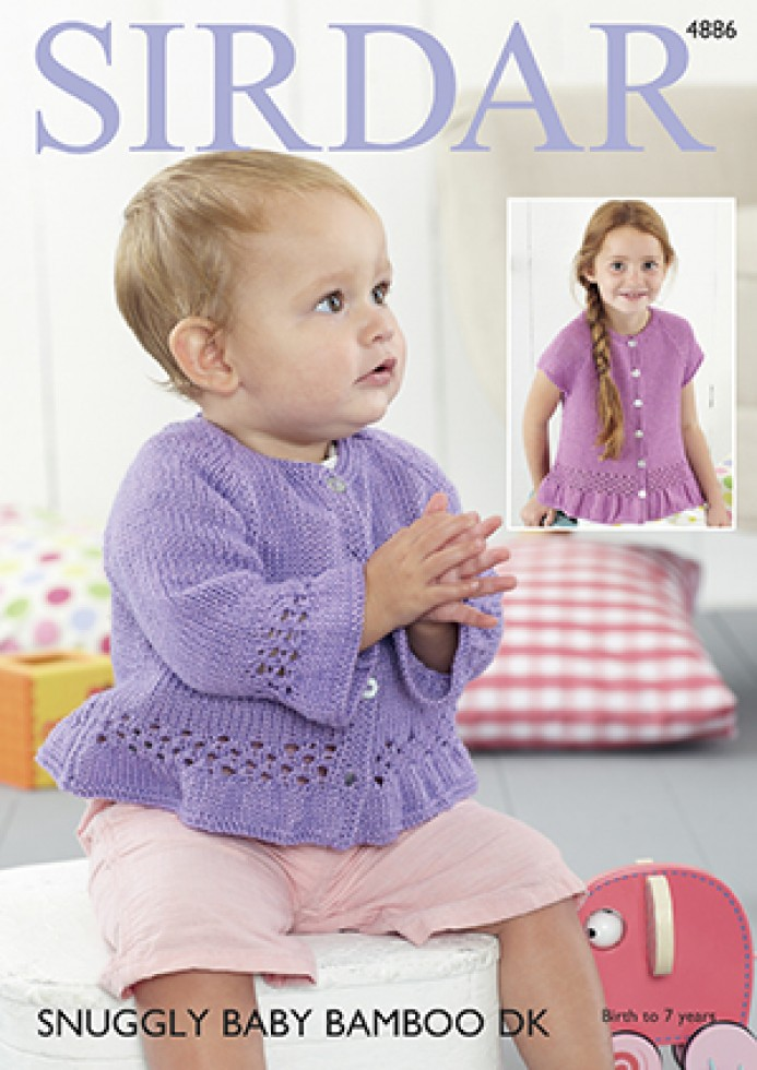 Knitting Websites Uk : Sirdar baby cardigans bamboo knitting pattern dk