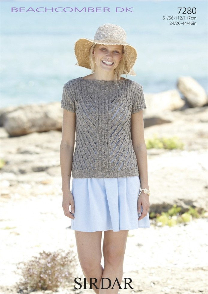 Sirdar Knitting Pattern Help : Sirdar Ladies & Girls Tops Beachcomber Knitting Pattern ...