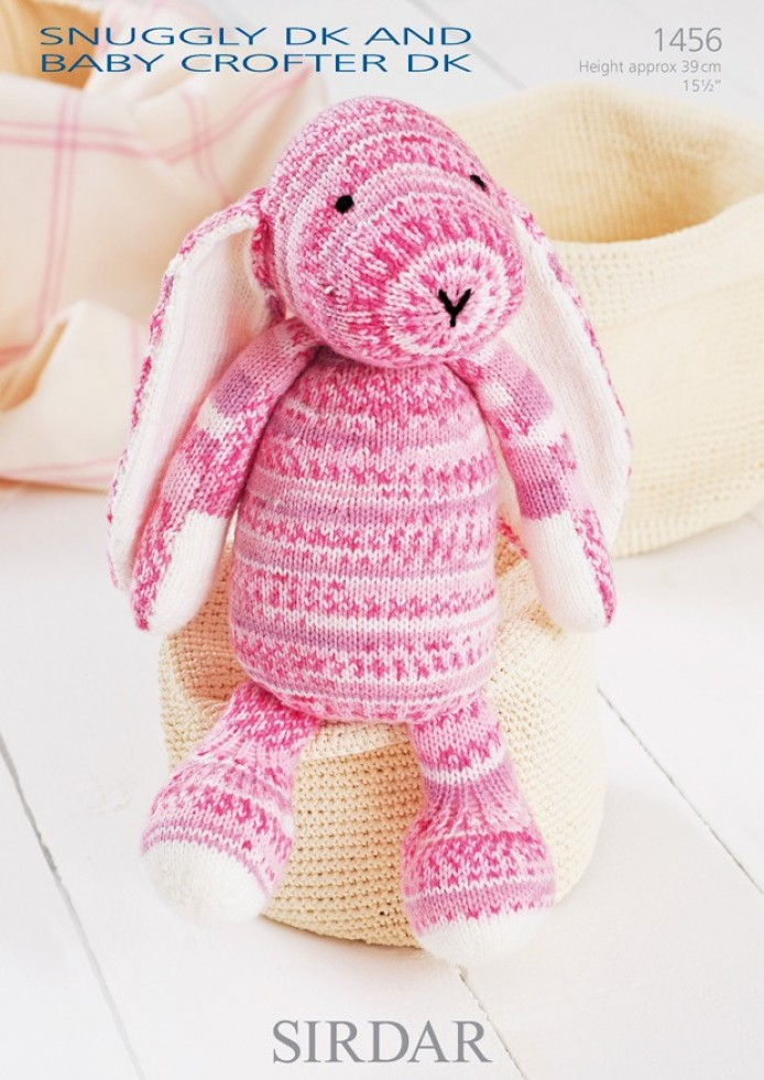 Sirdar Toy Knitting Patterns : Sirdar Snuggly Baby Crofter DK Bunny Toy Knitting Pattern 1456 Knitting P...