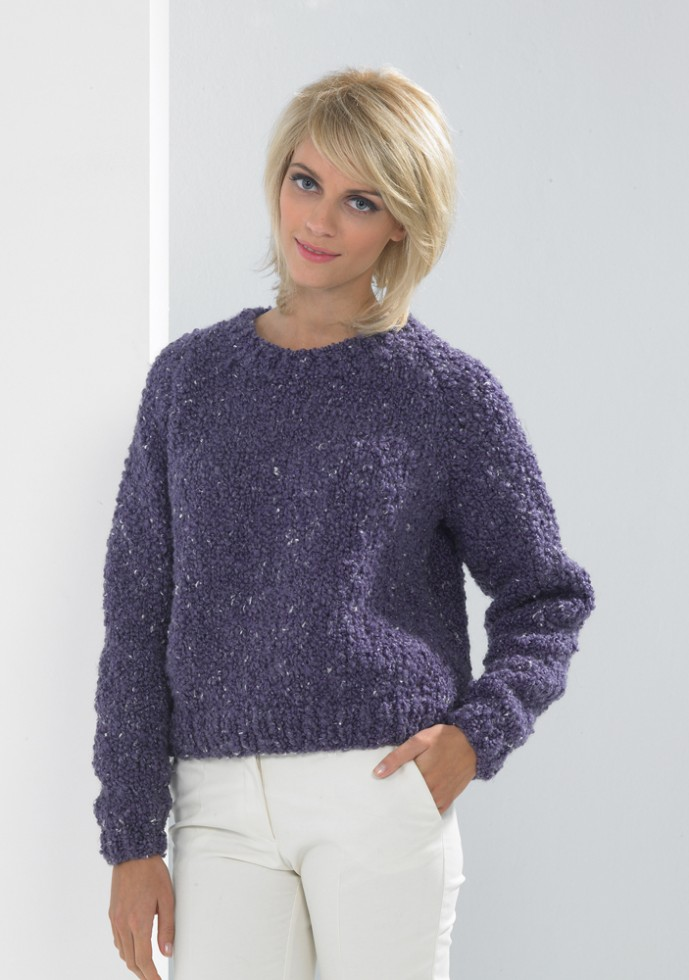 Free Knitting Patterns Chunky Jumper : Stylecraft Astrakhan Super Chunky Sweater Knitting Pattern 8705 Knitting ...
