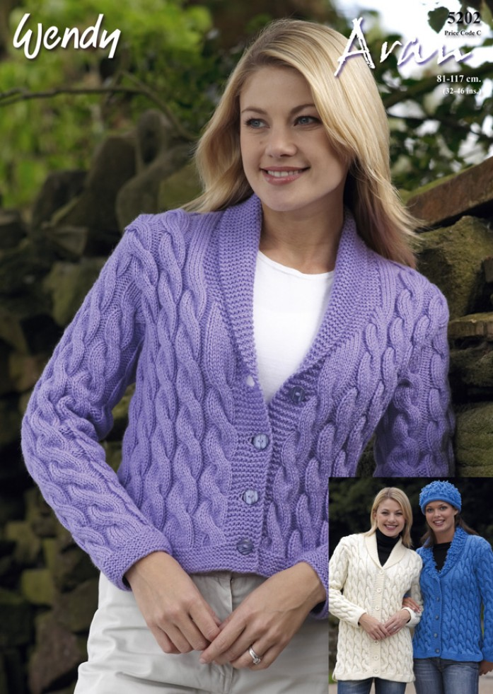 Wendy Knitting Patterns Free : Wendy Ladies Cardigans Traditional Wool Knitting Pattern 5202 Aran Knitting...