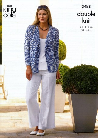 05d1d3193 King Cole Ladies Cardigans Bamboo Cotton Knitting Pattern 3488 DK ...