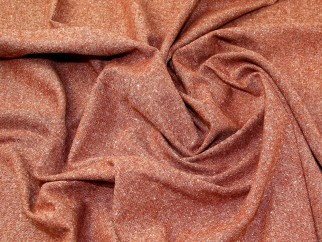 Lady Mcelroy Donegal Tweed Wool Coating Fabric Terracotta Fabric