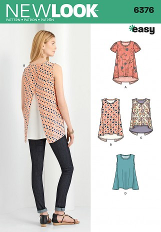 New Look Ladies Easy Sewing Pattern 40 Crossover Back T Shirt Tops Cool Easy Sewing Patterns