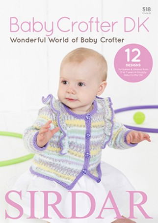Sirdar Wonderful World Of Baby Crofter 518 Knitting Pattern Book Dk