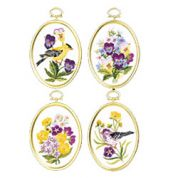 Janlynn Embroidery Kit Wildflowers & Finches 4 with frames