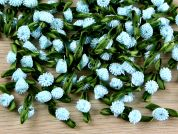 Mini Flower Clusters  Pale Blue