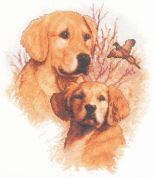 Janlynn Counted Cross Stitch Kit Hunting Companions 27.5cm x 32.5cm