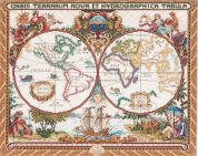 Janlynn Counted Cross Stitch Kit Olde World Map