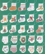 Janlynn Counted Cross Stitch Kit Lotsa Stockings & Mitten Ornaments
