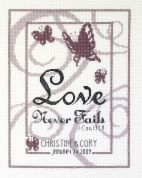 Janlynn Counted Cross Stitch Kit Love Never Fails