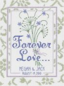 Janlynn Counted Cross Stitch Kit Forever Love Wedding Sampler