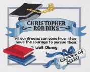 Janlynn Counted Cross Stitch Kit Graduation Dreams