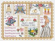 Janlynn Counted Cross Stitch Kit Wedding Collage