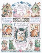 Janlynn Counted Cross Stitch Kit Cats, Cats, Cats