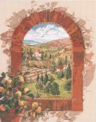 Janlynn Counted Cross Stitch Kit Dreaming of Tuscany