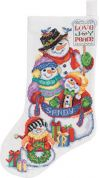 Janlynn Counted Cross Stitch Kit Snow Folks Stocking