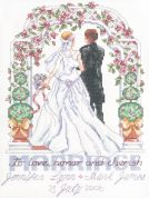 Janlynn Counted Cross Stitch Kit To Love, Honour & Cherish