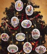 Janlynn Counted Cross Stitch Christmas Gardener's Ornaments