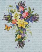 Janlynn Counted Cross Stitch Kit Spring Floral Cross