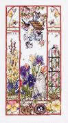 Janlynn Counted Cross Stitch Kit Spring Cat Sampler