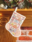 Janlynn Counted Cross Stitch Kit My 1st Christmas Girl Stocking