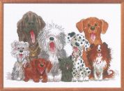 Janlynn Counted Cross Stitch Kit Dogs Of Duckport