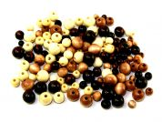 Darice Assorted Size Round Natural Wood Beads  Natural