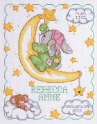 Janlynn Counted Cross Stitch Kit Crescent Moon Birth Announcement