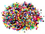 Darice Giant 1lb Bag Assorted Shape Plastic Beads  Multicoloured