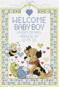 Janlynn Counted Cross Stitch Kit Welcome Baby Boy